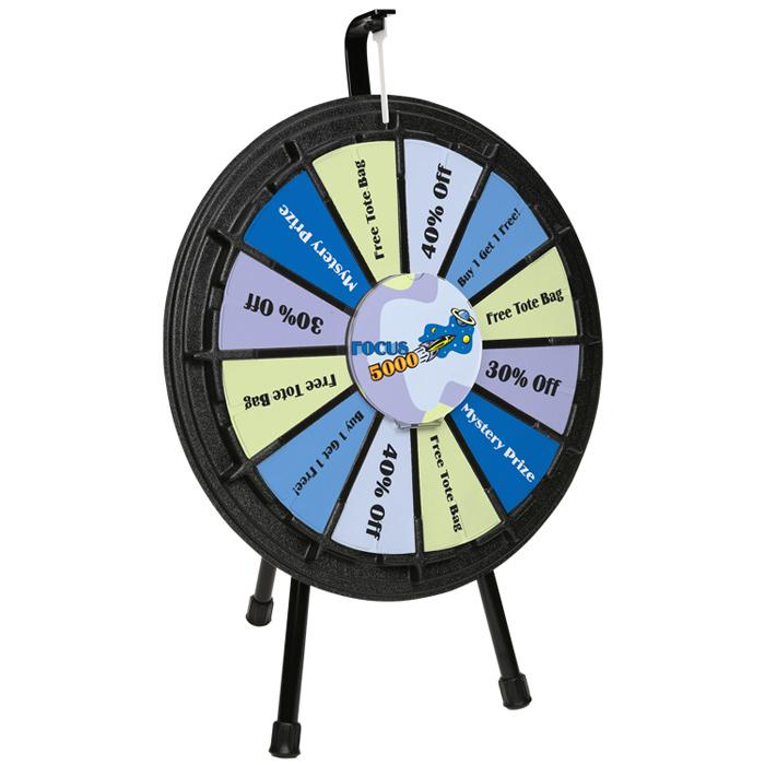 Mini Tabletop Prize Wheel - 24 hr