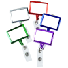 View Extra Image 3 of 4 of Retractable Badge Holder - Rectangle - Chrome Finish - Label