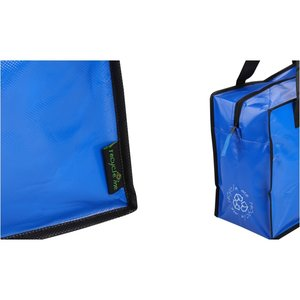 Laminated Polypropylene Zippered Box Tote-Closeout Image 2 of 2
