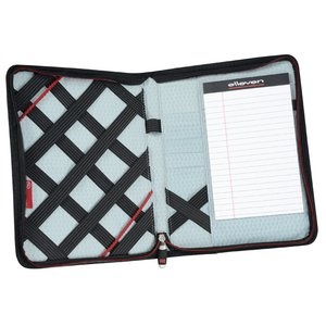elleven Jr. Zippered Padfolio - Debossed Image 1 of 2
