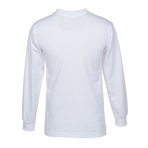 Bayside USA Made Long Sleeve T-Shirt - White Image 1 of 1