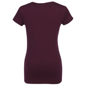Bella+Canvas V-Neck Jersey T-Shirt - Ladies' - Colors - Screen Image 1 of 2