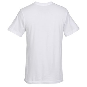 Bella+Canvas V-Neck T-Shirt - Men's - White - Embroidered Image 1 of 1