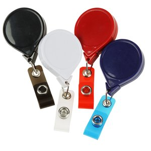 "Jumbo Retractable Badge Holder - 40"" - Round - Opaque"