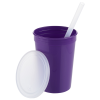 View Image 2 of 3 of Event Stadium Cup with Lid & Straw - 12 oz.