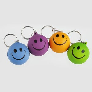 Smiley Face Mood Stress Key Chain