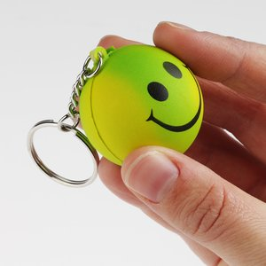 Smiley Face Mood Stress Keychain Image 2 of 3