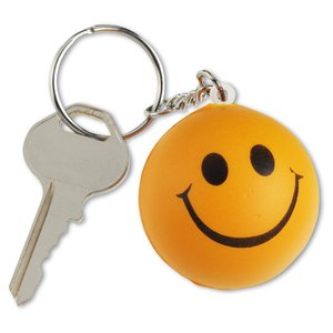 Smiley Face Mood Stress Keychain Image 3 of 3