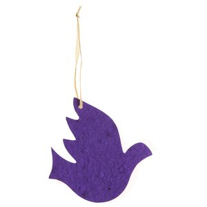 Seeded Paper Ornament - Dove
