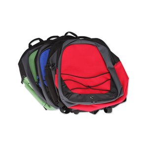 Tri-Tone Sport Backpack - Embroidered Image 1 of 3