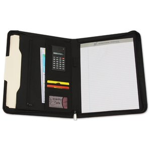 Eclipse Bonded Leather Zippered Portfolio Image 1 of 2