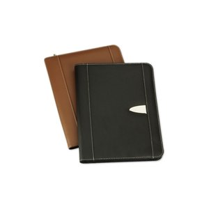 Eclipse Bonded Leather Zippered Portfolio Image 2 of 2