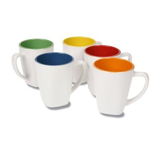 Two Tone Square Ceramic Mug - 12 oz. Image 1 of 1