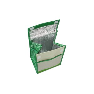 Recycled Impulse Lunch Cooler - Green - Closeout Image 2 of 2