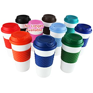 Color Banded Classic Coffee Cup - 16 oz. - 24 hr Image 1 of 2