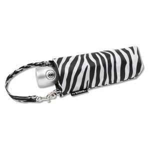 totes Mini Auto Open/Close Umbrella w/Case - Zebra