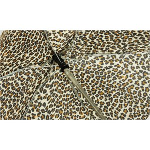 totes Mini Auto Open/Close Umbrella with Case - Leopard Image 2 of 2
