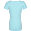 View Extra Image 2 of 2 of Next Level Fitted 4.3 oz. Crew T-Shirt - Girls' - Screen