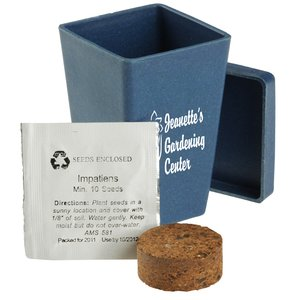 Promo Planter - Retro Blue - 1 Pack Image 1 of 3