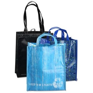 Laminated 100% Recycled Shopper Set-Closeout Image 4 of 8