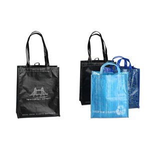 Laminated 100% Recycled Shopper Set-Closeout Image 5 of 8