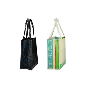 Laminated 100% Recycled Shopper Set-Closeout Image 7 of 8