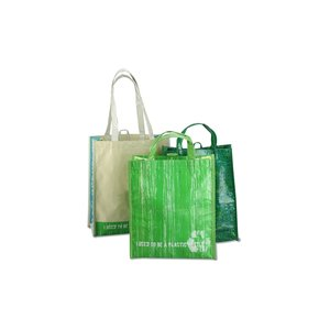 Laminated 100% Recycled Shopper Set-Closeout Image 8 of 8