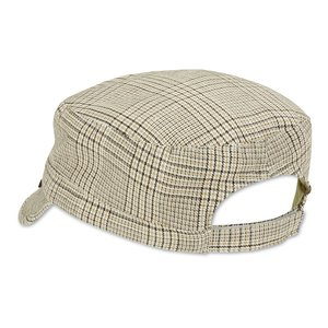 Peter Grimm Cadet Cap - Khaki Plaid Image 2 of 2
