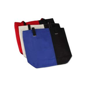 Mod Two-Tone Cotton Tote - Closeout Image 3 of 3