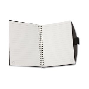 Recycled Cardboard & Leather Notebook - Closeout Image 1 of 2