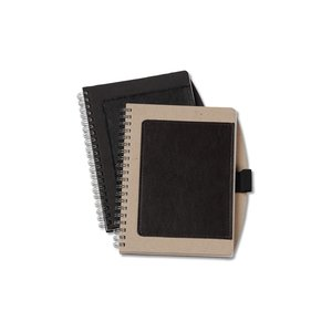 Recycled Cardboard & Leather Notebook - Closeout