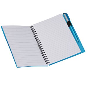 Business Card Notebook with Pen - Translucent Image 1 of 4