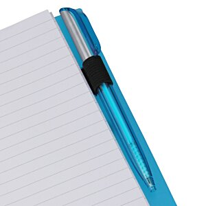 Business Card Notebook with Pen - Translucent Image 2 of 4