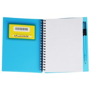 Business Card Notebook with Pen - Translucent Image 4 of 4