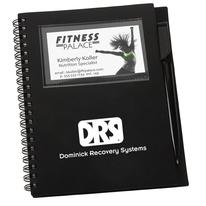 4imprint.com: Business Card Notebook with Pen - Opaque ...