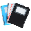 View Image 2 of 3 of Business Card Notebook with Stylus Pen - 24 hr