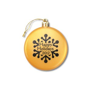Flat Ornament - Snowflake - Happy Holidays Image 1 of 1