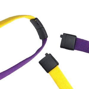 "Two-Tone Cotton Lanyard - 1/2"" - Plastic O-Ring"