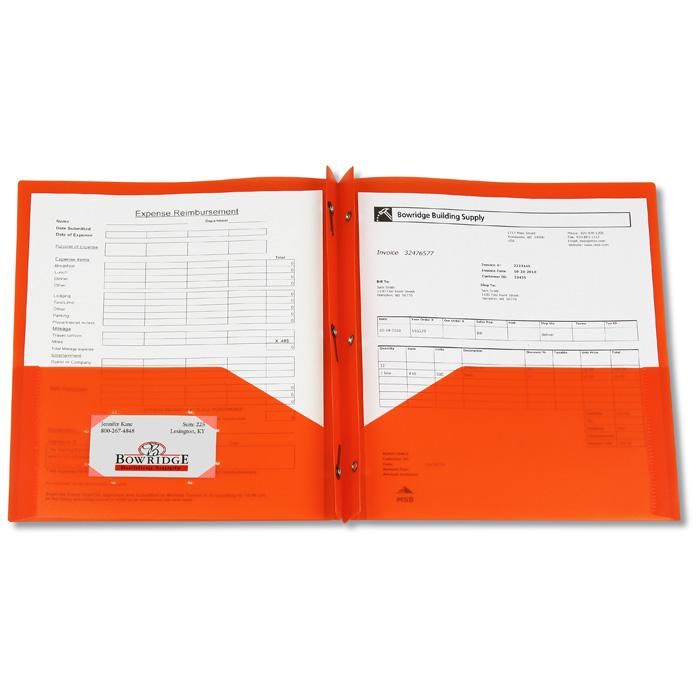4imprint.com: 3 Prong Twin Pocket Presentation Folder ...