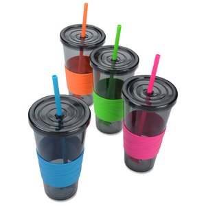 Smoky Revolution Tumbler with Straw - 24 oz. - 24 hr Image 2 of 2