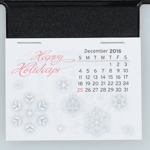 Peel-n-Stick Calendar - Business Card Holder