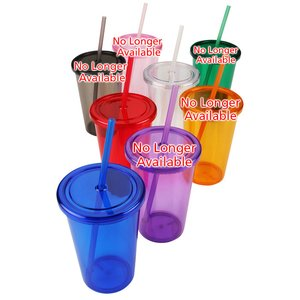Sizzle Single Wall Tumbler with Straw - 16 oz. Image 1 of 1