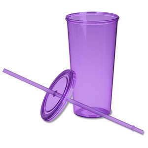 Sizzle Single Wall Tumbler with Straw - 24 oz. Image 1 of 1
