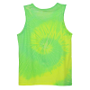 View Extra Image 2 of 2 of Tie-Dye Tank Top - Two-Tone Spiral - Screen