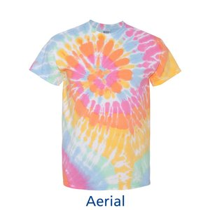 Tie-Dye T-Shirt - Multi-Color Spiral - Embroidered