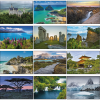 World Scenic Large Wall Calendar