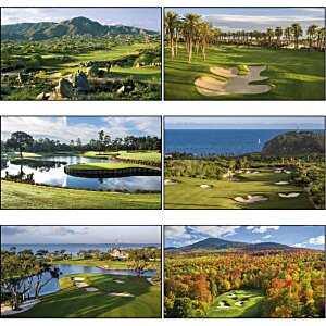 Golf Landscapes Calendar with 2-month view Image 1 of 1