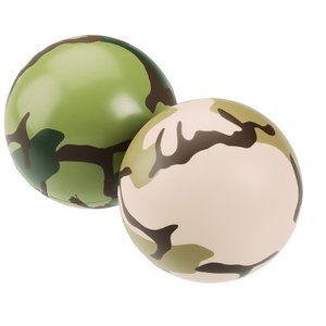 Camouflage Round Stress Reliever Image 1 of 1