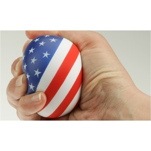 Patriotic Round Stress Reliever Image 1 of 1