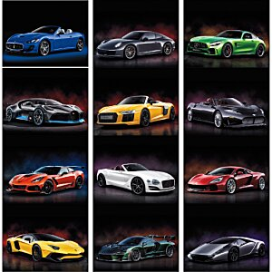 Exotic Sports Cars Calendar - Stapled Image 1 of 1